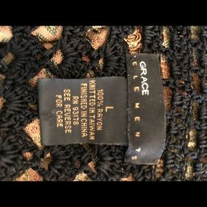 Black lace bolero jacket/sweater
